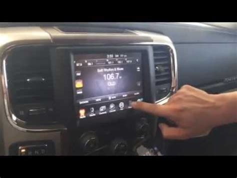 iphone pairing on 2015 ram 1500 uconnect 8.4 an youtube