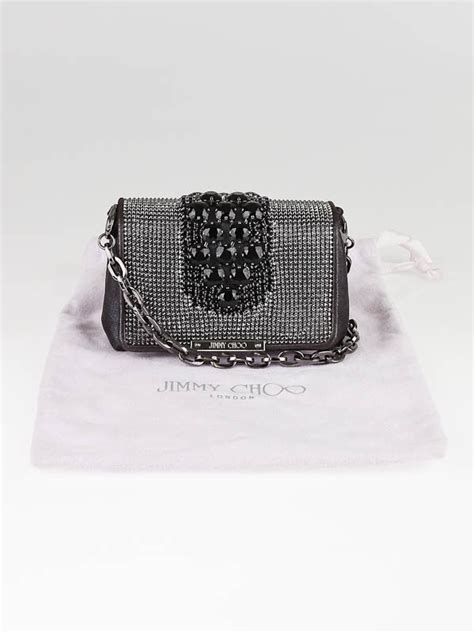 Jimmy Choo Cecile Evening Bag by Jimmy Choo Midnight Metallic Leather And
