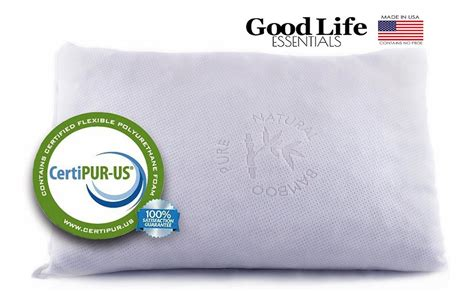 amazon com shredded memory foam pillow with stay cool best memory foam pillow review buying guide 2018