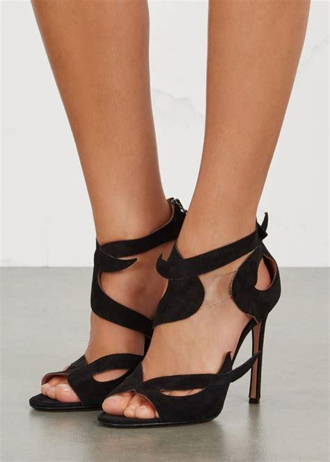 Wedges Blackkelly 15 samuelle failli black suede sandals shoes post