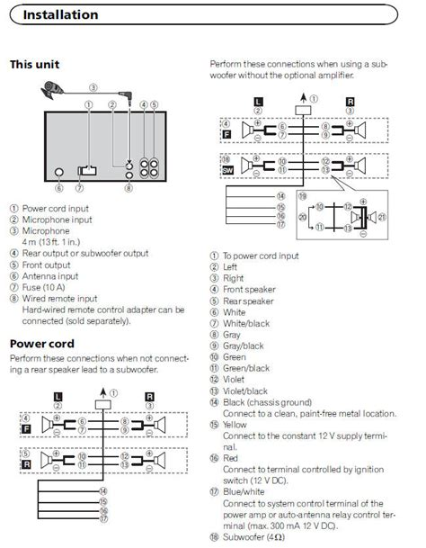 wiring diagram for pioneer car stereo deh 425 wiring get