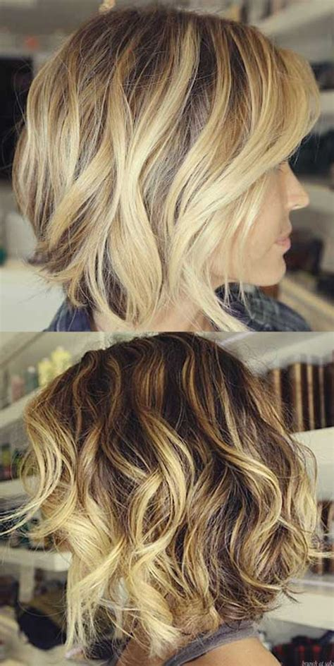 bob haircut with chunky highlites hair ideas on pinterest undercut warm blonde and