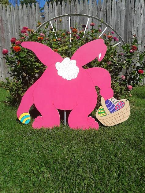 Easter Bunny Artist Yard Woodworking Easter Bunny Outdoor Wood Yard Easter Decor Lawn