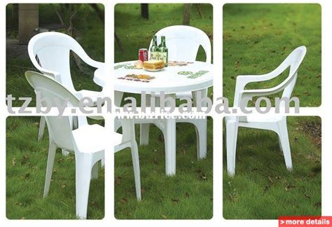 Plastic Garden Chairs And Table by Garden Table Only In White Resin Patio Furniture