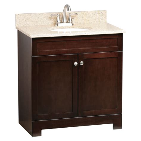 bathroom cabinet lowes shop style selections broadway espresso undermount single
