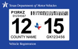 Vehicle Registration Tx New Requires One Car Sticker But Sows