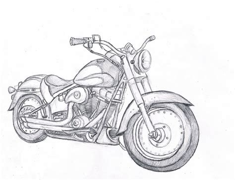 Motorrad Bilder Zeichnen by Simple Motorcycle Drawing Pictures To Pin On
