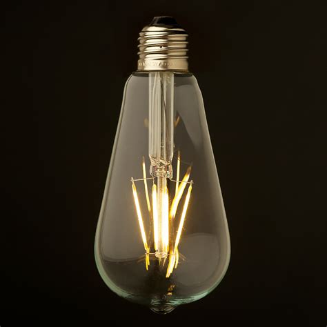 Clear Led Light Bulbs 3 5 Watt Dimmable Filament Led E27 Clear Edison Bulb