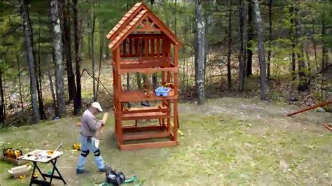 highlander swing set installation youtube