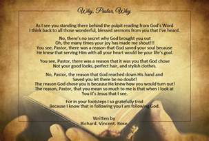 Letter Of Appreciation To My Pastor S Wife Pastor Appreciation Poems Pastor Gifts Com