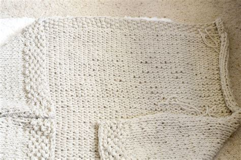 something easy to knit easy knit blanket sweater pattern in a stitch