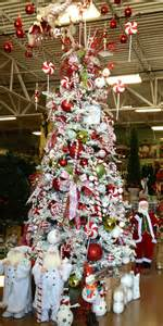 candy cane christmas tree designed by arcadia floral