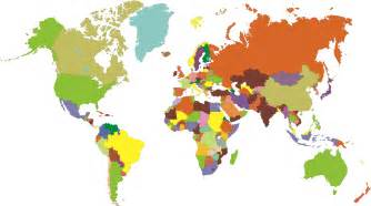 color world map colored world map clipart best