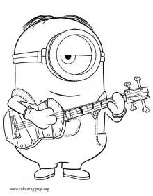 beautiful picture stuart playing guitar print color free minions coloring