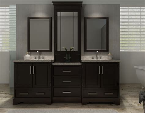 Bathroom Vanity With Center Sink ariel m085d esp stafford 85 inch sink vanity set in