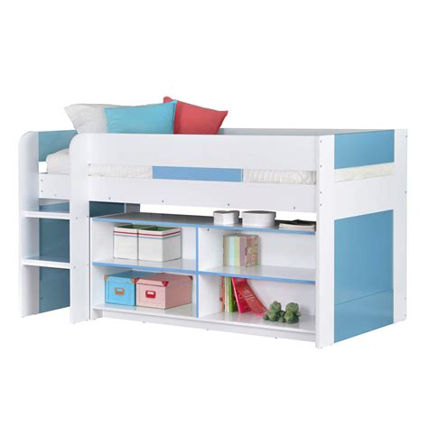 Cabin Mid Sleeper Beds by Cabin Bed Mid Sleeper Bed 3ft Single With Ladder Blue