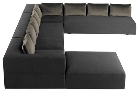 modern u shaped sectional sofa cosmo modern u shaped sectional modern sectional sofas