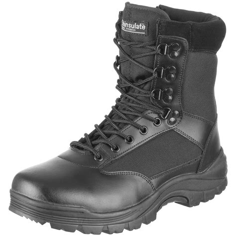 tactical side zip security combat boots army mens