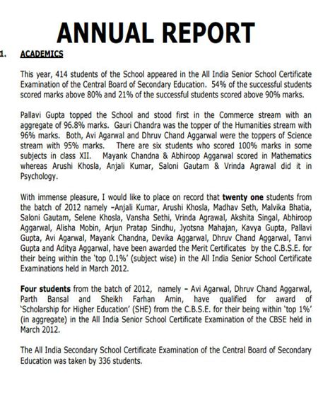 sle of school report school annual report sle 28 images annual report of