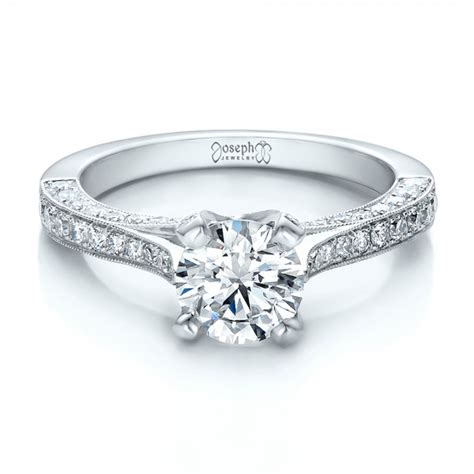 custom criss cross engagement ring 100664