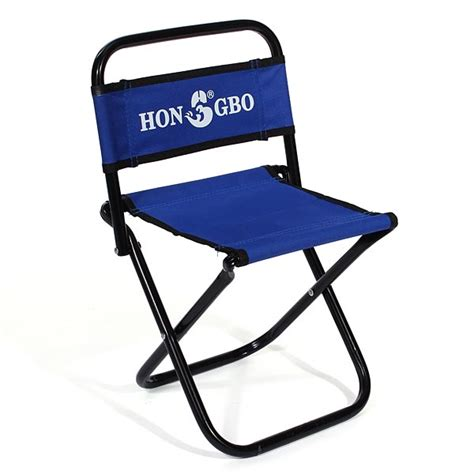 portable folding chair backrest fishing chair small blue
