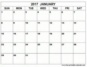 Large Print Calendar January 2017 Calendar Large Print Images Printable