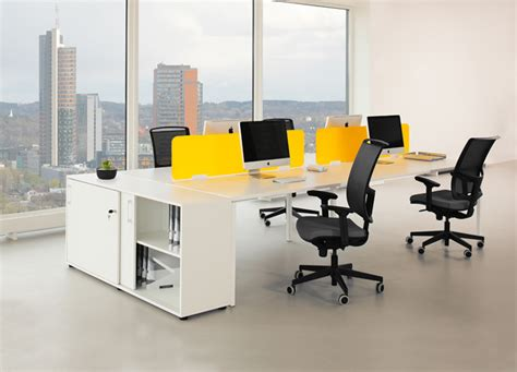offi bench nova white bench desk aluminium dark grey