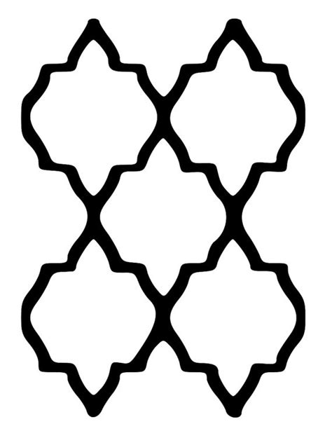 moroccan shapes templates moroccan shape stencil www imgkid the image kid