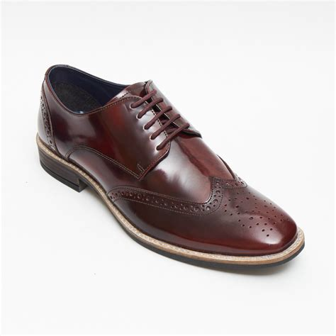 Leather Formal Shoes Maroon mens fashion burgundy leather shoes formal smart dress uk size 6 7 8 9 10 11 ebay