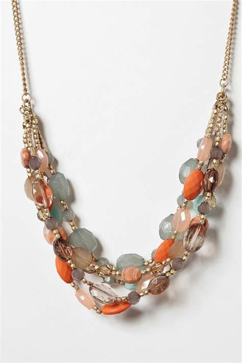 ideas for jewelry with uo semiprecious beaded necklace vintage
