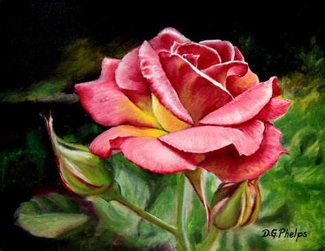 Poinsettia delmus phelps fine art and flower art