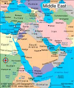 Map Of Middle East by End Time Nations Jeremiah Ministries