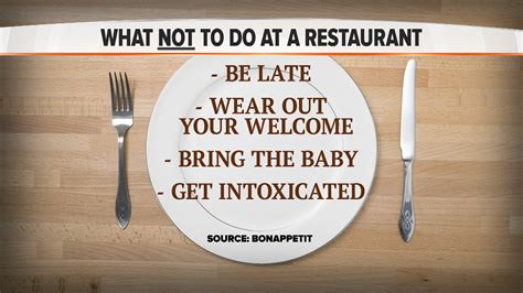 What Not To Dont Come Late by Don T Be Late Don T Get Intoxicated Bon Appetit Reveals