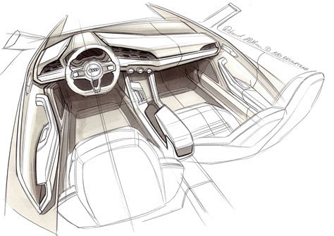 sketch interior design audi crosslane coupe concept interior design sketch