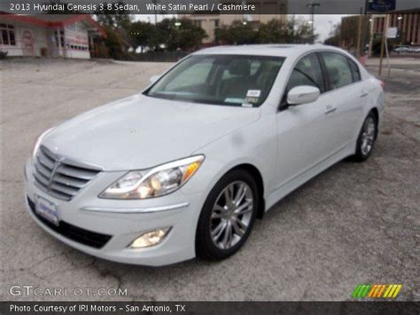 white satin pearl 2013 hyundai genesis 3 8 sedan