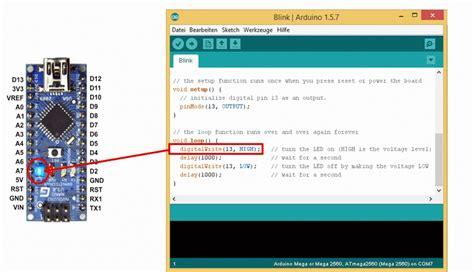 code arduino blink arduino first steps www wiki ardumower de