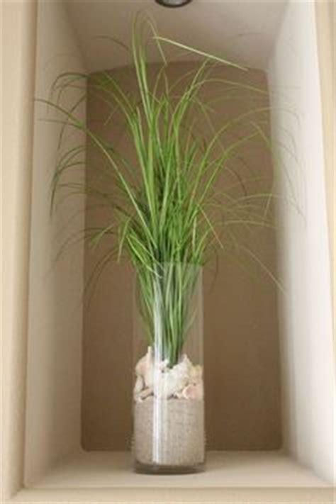 strand wohnzimmer dekor glas vasen rund sand muscheln deko deko