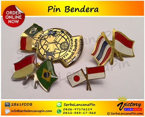 Pin Bendera Berkibar buat pin bendera bikin pin bendera 0812 383 17368
