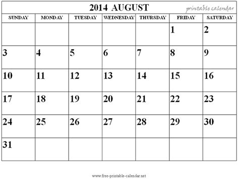 microsoft word calendar template 2014 monthly