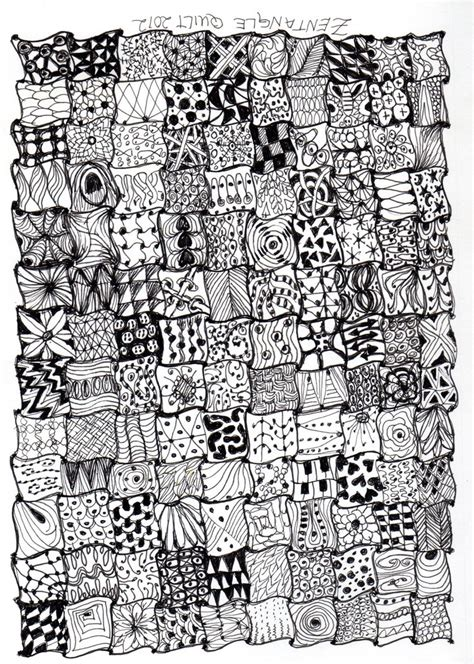 zentangle pattern quilt 2 by thelonelymaiden on deviantart 3258 best zentangle patterns images on pinterest