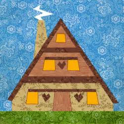 lovely house quilt block paper pieced quilt pattern pdf