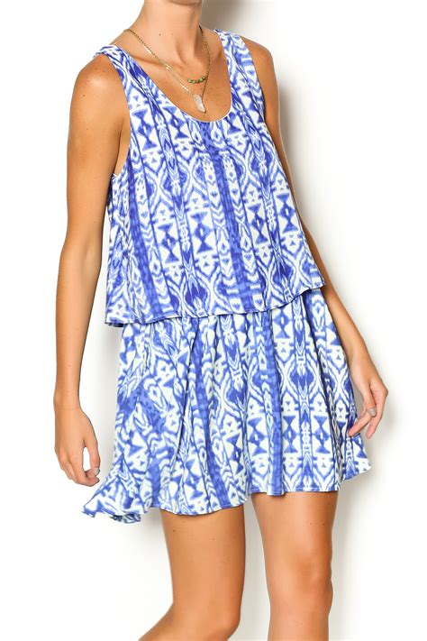 Dress Blus Tribal honey punch blue tribal dress from new jersey by runaway shoptiques
