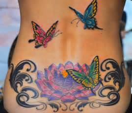 Lotus And Butterfly Great Lotus Flower N Butterflies On Back