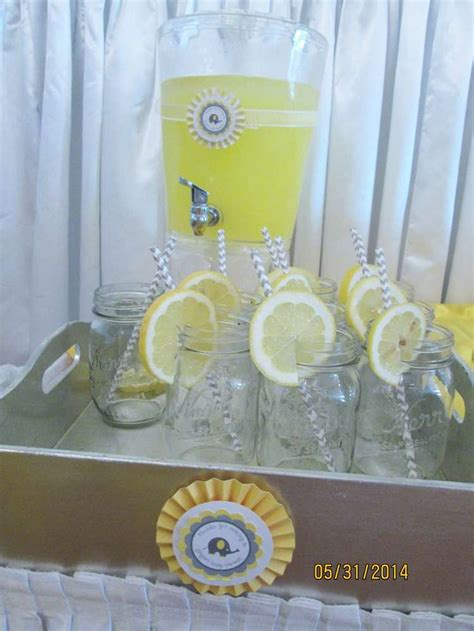 yellow gray elephant baby shower baby shower ideas