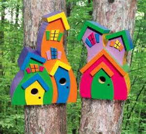 colorful birdhouses colorful whimsical birdhouses outdoor space