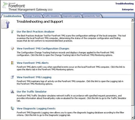 troubleshooting document template forefront threat management gateway tmg 2010