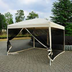 Gazebo With Fly Screen Sides by 10 X 10 Pop Up Tent Mesh Screen Gazebo Popup Canopy