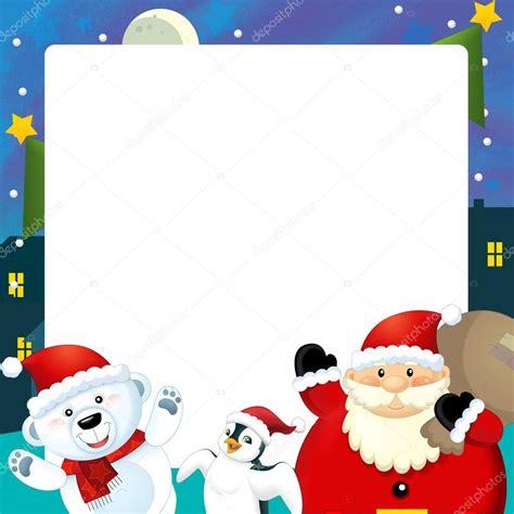 imagenes de navidad animadas para niños dibujos animados de ilustraci 243 n de marco espacio para el
