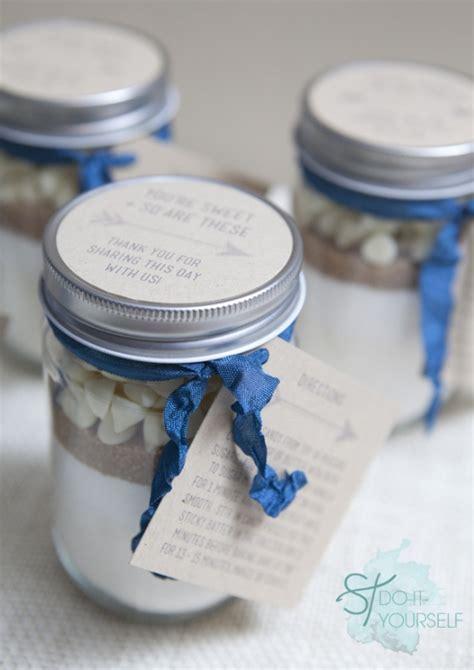 Mason Jar Wedding Giveaways - mini mason jar cookie gift by jen carreiro project papercraft weddings