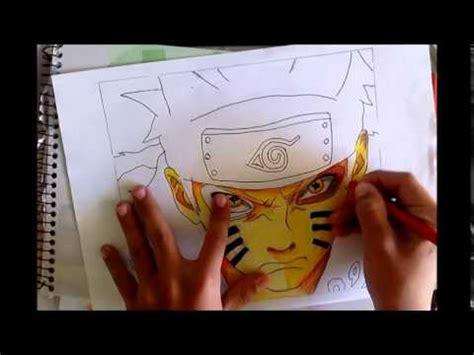 desenhando naruto modo bijuu drawing naruto bijuu mode